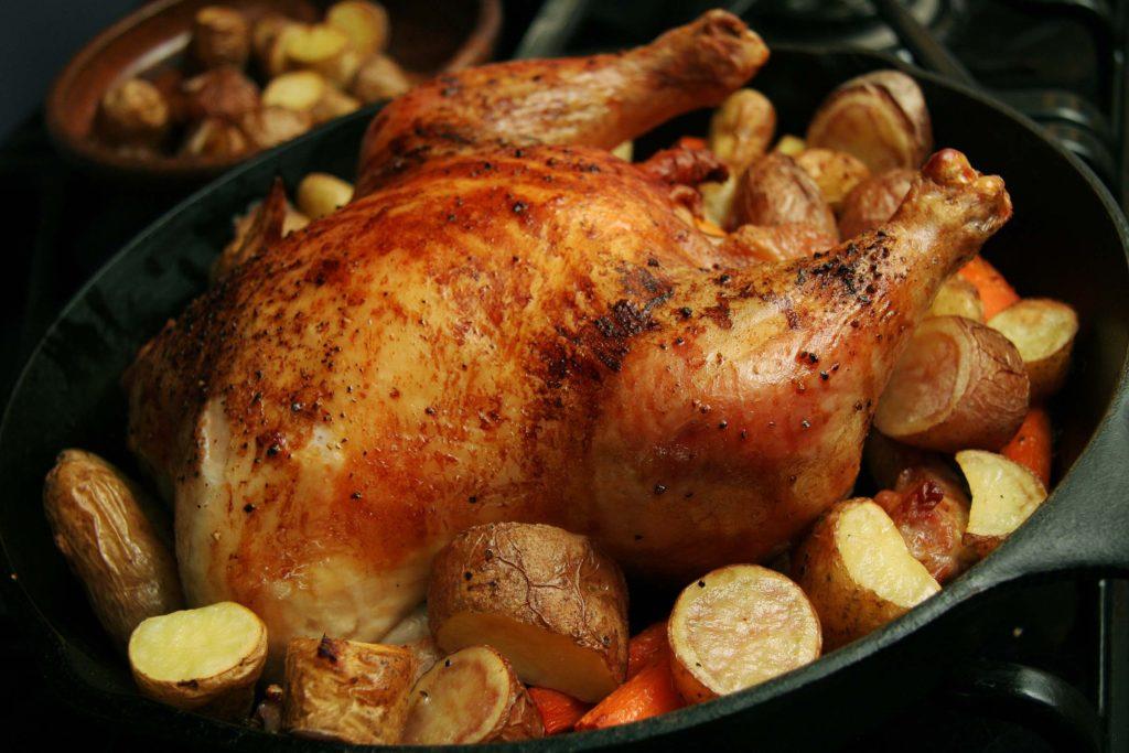 запечёная курица