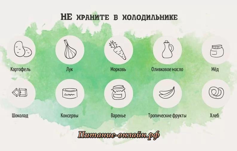 Хранить продукты